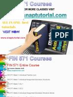 FIN 571 Academic Success /snaptutorial
