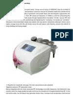 3in1 Ultrasonic Vacuum Rf Similing Weight Loss Rejuvenation Anti-aging Machine
