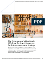The Entrepreneur's Handbook_ 120 Great Tools and Resources for Entrepreneurs and Startups — Next to Launch — Medium