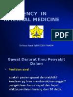Emergency in Internal Medicine (Kuliah)