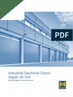 42 мм өргөнтэй үйлдвэрийн зориулалттай хаалга