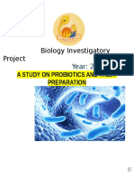 Biology Investigatory Project