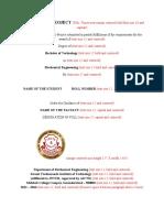 Mini  Project Format SVIT