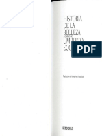 Umberto Eco  Historia de La Belleza