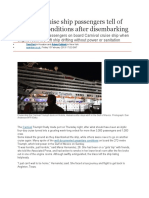 2013 - 02 Carnival Cruise Ship Passengers Tell of 'Horrible' Conditions After Disembarking