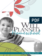 Well Planned Homeschool Focus on Special Needs