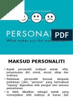 Terangkan Maksud Personaliti Dan Konsep Kendiri