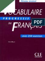 Le Vocabulaire Progressif Du Français, Niveau Avancé