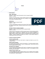 Sample German Interpreter Resume