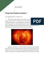 Pengertian Radiasi Matahari