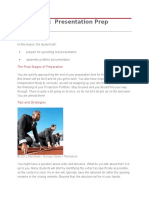 oral presentation lesson sequence