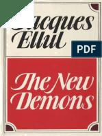 The New Demons  - Jacque Ellul