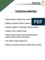 Ecología - Tema 6 Condiciones Ambientales