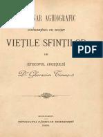 ''Dicţionar Aghiografic Cuprindȇnd Pe Scurt Vieţile Sfinţilor''-Pr_Prof_Dr_Gherasim_Timus-1898