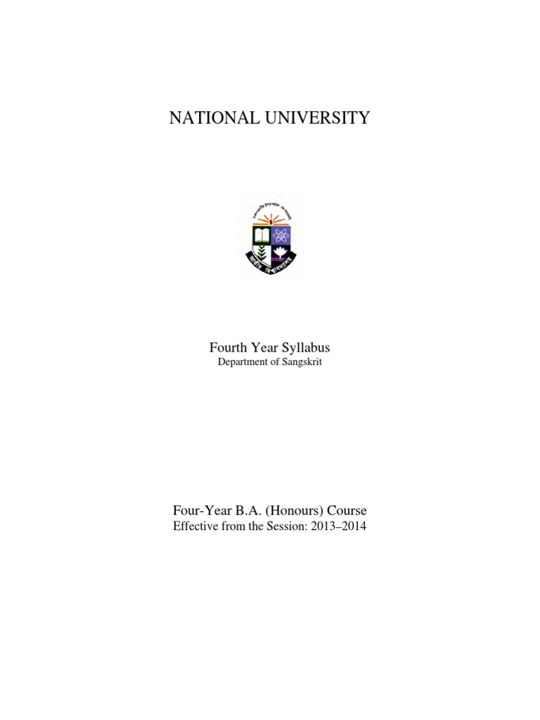 NU 4th Year Honours_All Subject Syllabus   Language Education ...