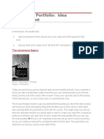 production portfolio lesson sequence