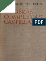 LUIS de LEÓN Obras Completas Castellanas