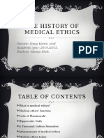 The History of Medical Ethics