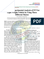 Review of Experimental Analysis of IVT for Light Weight Vehicle by Using Three Different Masses