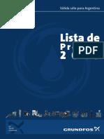 Listado de Precios Grundfos 2015