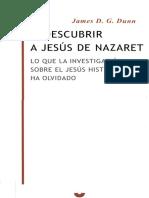 James D. G. Dunn - Descubrir a Jesus de Nazaret