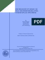 Bond Behavior of Grade 100 ASTM a 1035