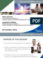 Supplier Tutorial Pittsburgh 2015 NADCAP