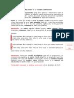 Instrucciones de La Segunda Composición (Martes 12 20)