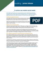 UK mobile social media use (press release)