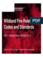 Wildland Fire-Related Codes and Standards