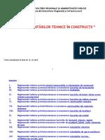 Lista Reglementarilor in Constructii Valabile Din 2016