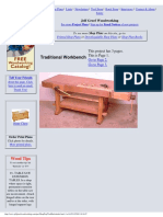 Traditional Workbench - Jeff Greef Woodworking