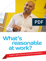 whats reasonable at work  for people with disabilities