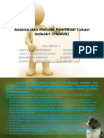 Power Point Analisa & Metode Pemilihan Lokasi Industri