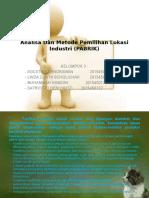 Power Point Analisa & Metode Pemilihan Lokasi Industri