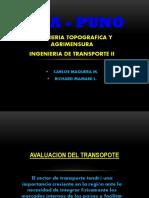EVALUACIÓN DEL TRANSPORTE