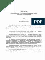 Projet procedure penale