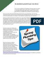 Recommandations de plomberie grand de que vous devez être conscient