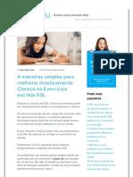 4 Maneiras Simples Para Melhorar Drasticamente Clareza Na ESL Exercícios de Escrita _ FluentU Inglês Educador Blog