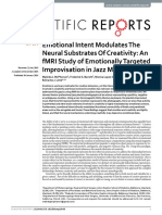 Emotional Intent Modulates The Neural Substrates Of Creativity