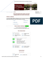 Online Learning.learning Statistics Certification