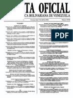 Sumario Gaceta Oficial 39.396