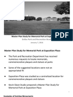 Exposition Plaza Master Plan Briefing 1.7.2016