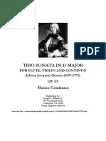 Quantz Trio Sonata in D Major - Cello Part