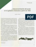 Varela, Roberto - Procesos de Desconcetración Del Poder en El Gobierno Mexicano a Partir de 1982