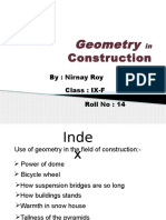 Use of Geometry in Our Life
