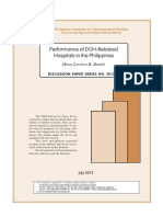 Performance of DOH-retained Hospitals in the Philippines