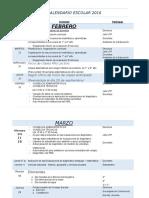 Calendario Escolar Colegio Corregido 2016