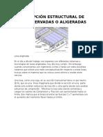 Concepcion Estructural de Losas Nervadas o Aligeradas