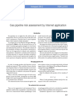 Gas pipeline risk assessment by Internet application